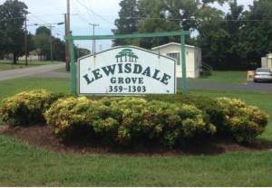 Lewisdale sign